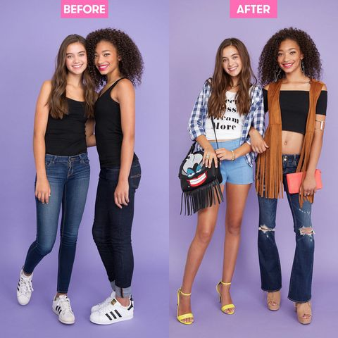 Watch BFFs Style Each Other For The First Day Of School