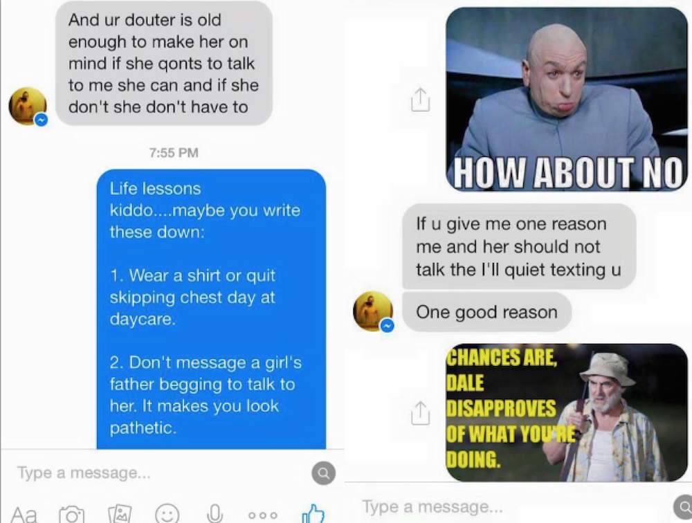 This Dad Trolled His Daughter's Loser Ex-Boyfriend So Hard