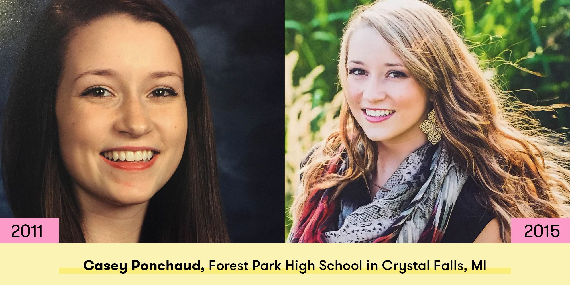 See How 15 Girls Changed Between Freshman And Senior Year Of High School
