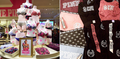 Pink, Toy, Retail, Display window, Collection, Shopping bag,