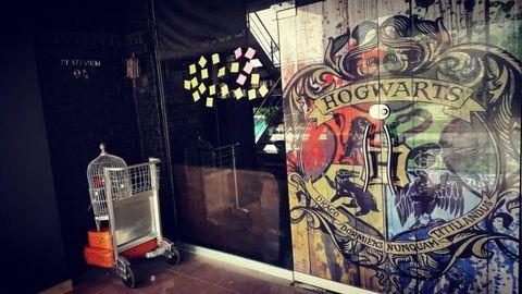 Light fixture, Visual arts, Graffiti, Shopping cart, Cart, Painting, Graphics,