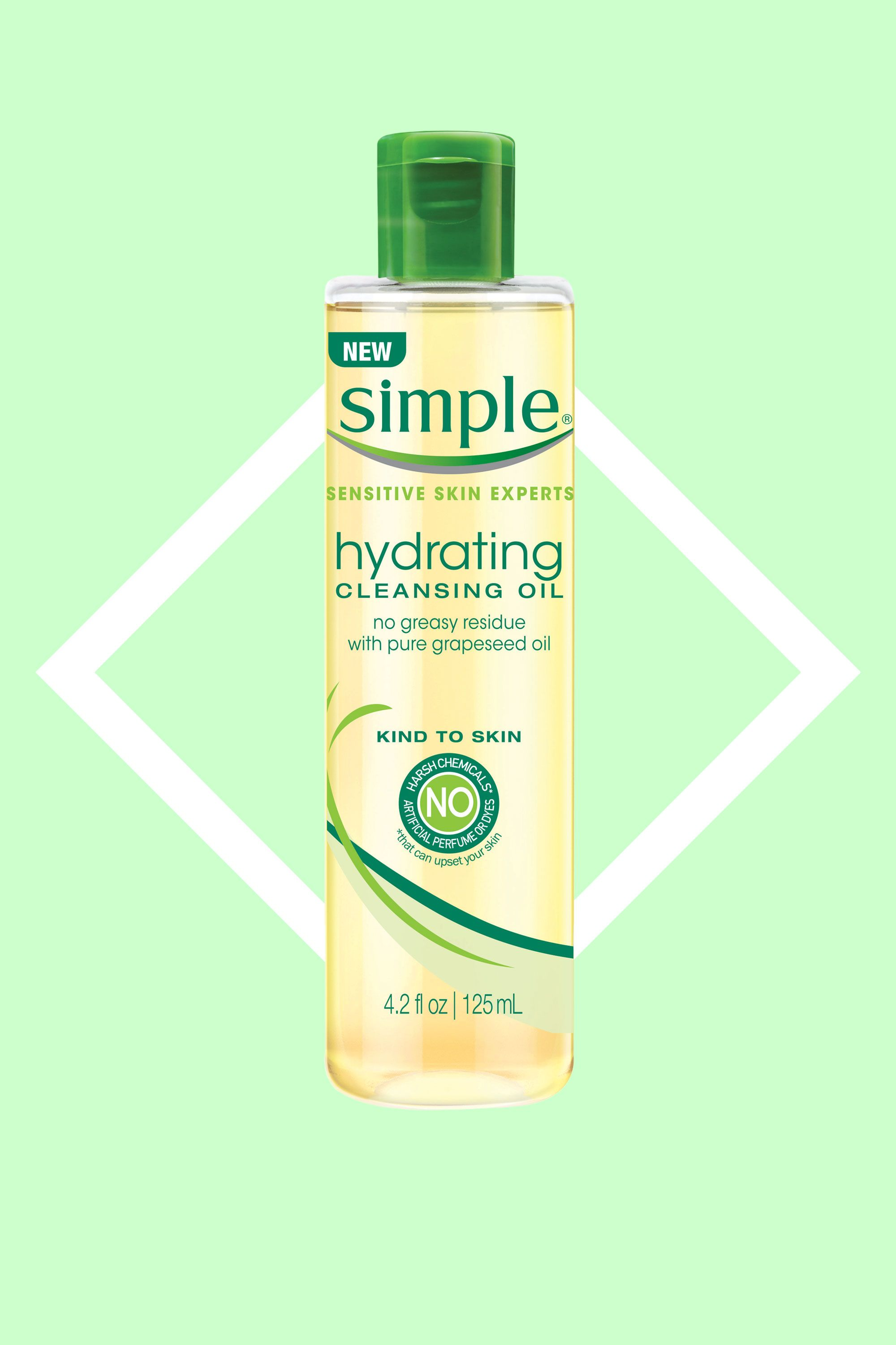 """<p>Cleansing oils (compared to the gel or cream you are used to lathering up with!) are the 'it' products for good reason. Oil attracts other oil and breaks it down quickly (think about your foundation, blush and well, gross pimple-causing oil). This one has 100 percentpure grapeseed oil, so it leaves dry skin instantlyhydrated, not tight and dry.</p><p><a href=""""http://bit.ly/2bwnqf9"""" target=""""_blank"""">Simple Hydrating Cleansing Oil</a>, $9.99<br></p>"""