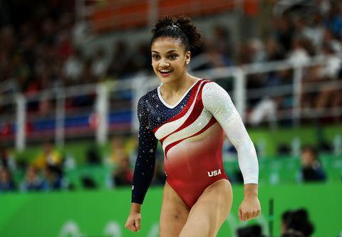 Sports uniform, Sportswear, Gymnastics, Leotard, Competition event, Sports, Artistic gymnastics, Thigh, Championship, Youth,