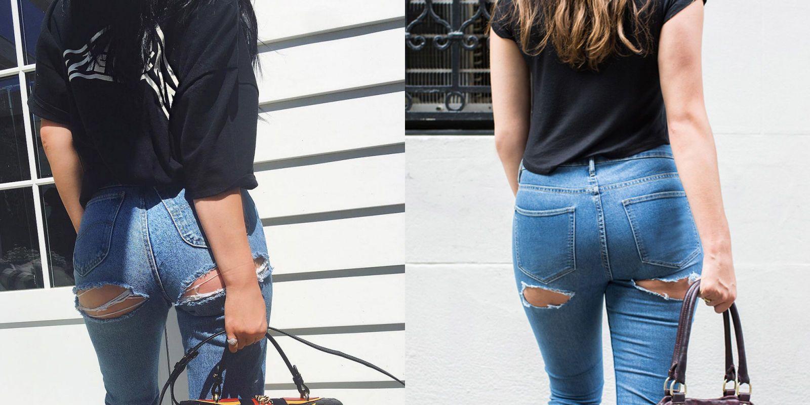 Black milf ass in black jeans