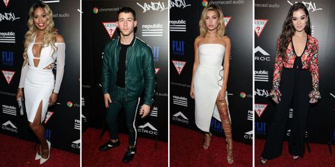 2016 mtv vmas, vma, mtv video music awards, after-party, after party, red carpet, fashion, outfits, hailee steinfeld, hailey baldwin, nick jonas, laverne cox