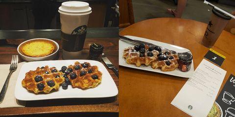Starbucks brunch waffles