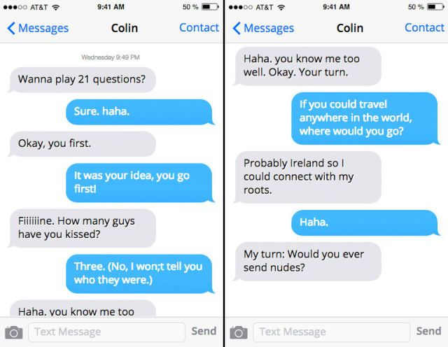 How to continue a conversation with a guy over text