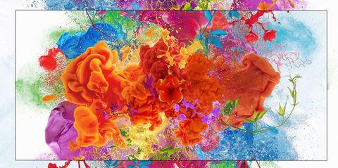 Colorfulness, Blue, Yellow, Orange, Red, Purple, Magenta, Electric blue, Art, Pattern,