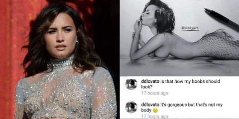 Here's What Happened After Demi Lovato Called Out a Fan Artist for Giving Her an Unrealistic Body