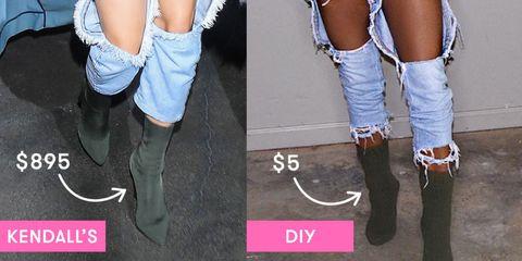 b414c1a10b0 Socks Over Heels - Yeezy Sock Boot DIY