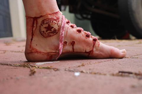 Skin, Human leg, Joint, Pink, Organ, Foot, Carmine, Close-up, Peach, Ankle,