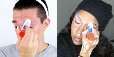 Ear, Finger, Lip, Blue, Cheek, Hairstyle, Skin, Forehead, Eyebrow, Style,