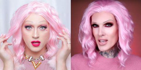 Lip, Hairstyle, Eye, Chin, Eyebrow, Eyelash, Pink, Purple, Style, Jaw,