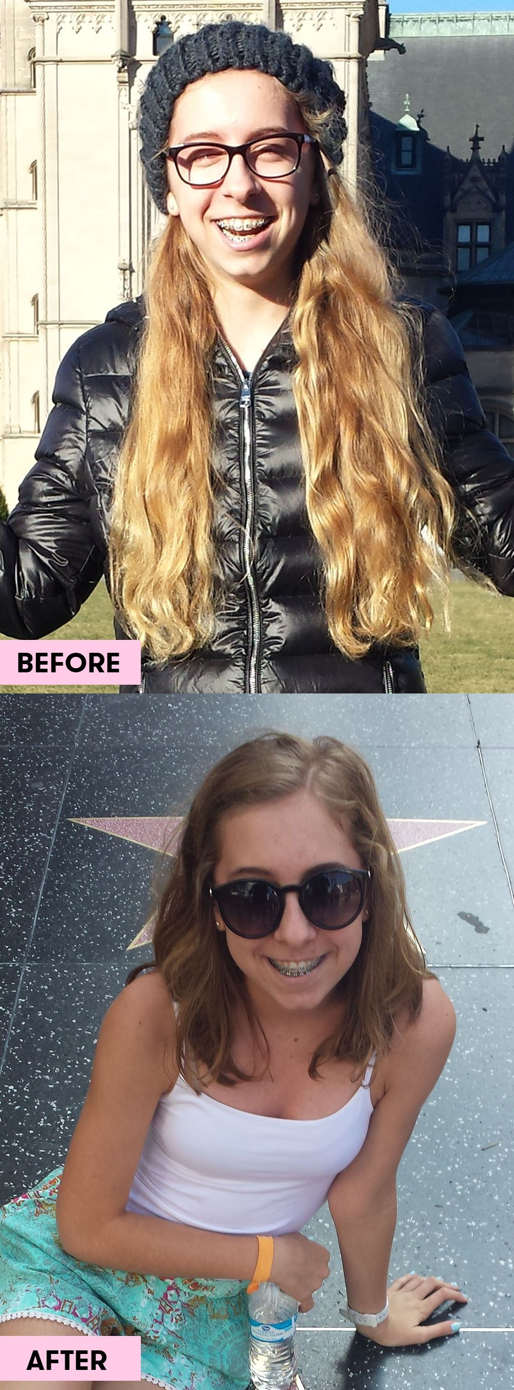 10 Girls Before And After Cutting Their Hair