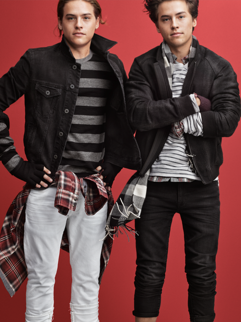 dylan and cole sprouse photos american eagle ad campaign