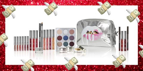 Red, Lipstick, Carmine, Cosmetics, Rectangle, Silver, Eye shadow, Body jewelry, Perfume, Lip gloss,