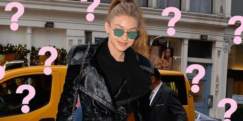 Eyewear, Vision care, Sunglasses, Pink, Jacket, Magenta, Street fashion, Fashion accessory, Cool, Leather jacket,