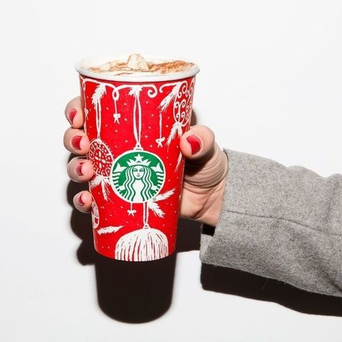Drinkware, Cup, Carmine, Sweater, Cup, Fast food, Soft drink,