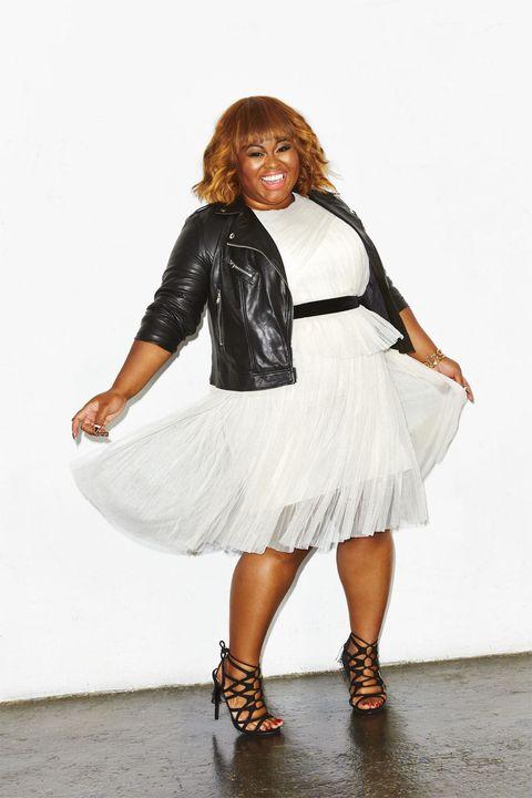 White, Clothing, Shoulder, Fashion, Fashion model, Dress, Footwear, Leg, Joint, Waist,