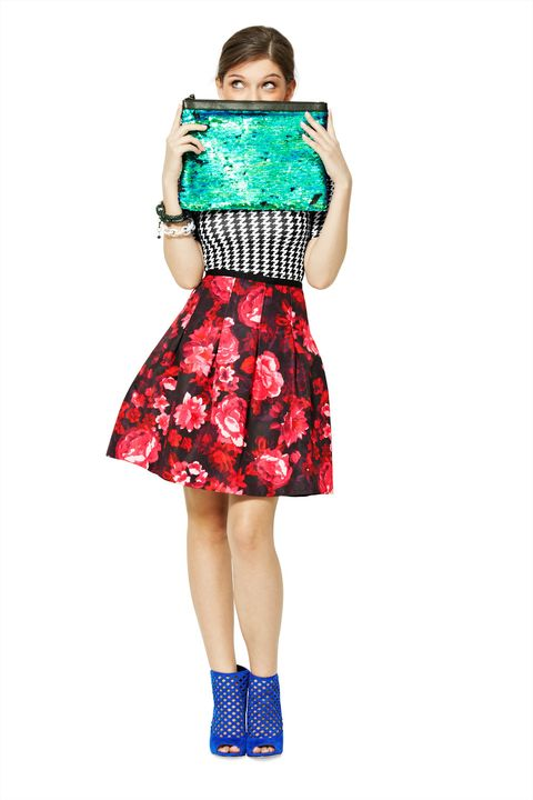 Clothing, Shoulder, Dress, Turquoise, Day dress, Blue, Sleeve, Fashion model, Waist, Aqua,