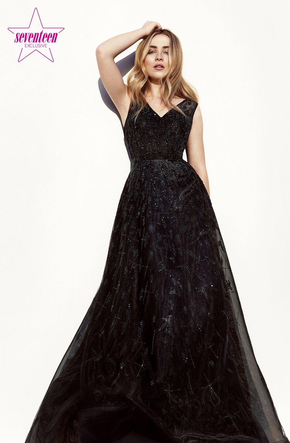 seventeen magazine prom dark gray gown