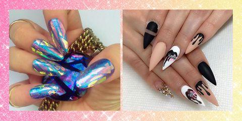Blue, Finger, Nail, Nail care, Pink, Nail polish, Style, Purple, Teal, Fashion,