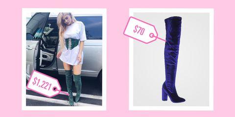 Footwear, Textile, Boot, Purple, Vehicle door, Dress, Fashion, Knee, Knee-high boot, Street fashion,