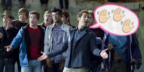 Social group, Jacket, Jeans, Denim, Youth, Plaid, Hoodie,