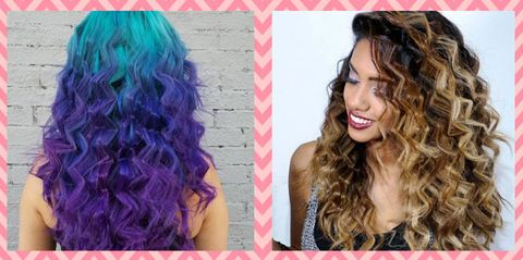 Lip, Hairstyle, Eyebrow, Purple, Violet, Pink, Colorfulness, Magenta, Facial expression, Style,