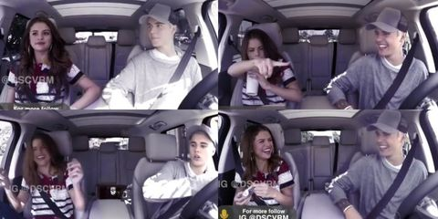 A Genius Fan Made the Ultimate Justin Bieber–Selena Gomez Carpool Karaoke Reunion Video