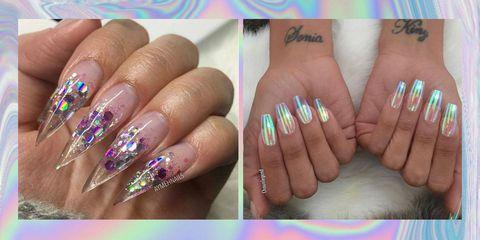 Blue, Finger, Skin, Nail, Nail care, Pink, Purple, Magenta, Nail polish, Style,