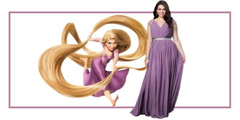 Hairstyle, Purple, Violet, Lavender, Pink, Dress, Magenta, Style, One-piece garment, Fictional character,