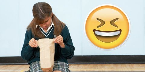 Facial expression, Smile, Junk food, Room, Food, Student, Breakfast,