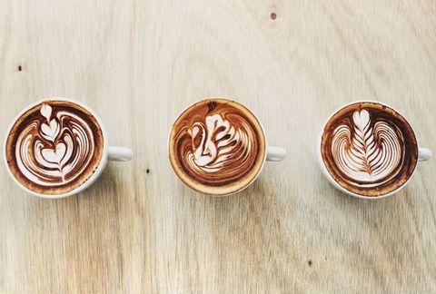 Wood, Brown, Serveware, Food, Single-origin coffee, Drinkware, Tableware, Cup, Flat white, Coffee milk,
