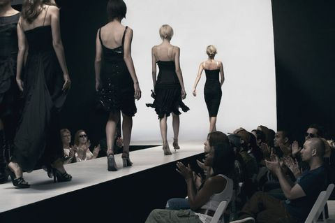 Human body, Shoulder, Dress, Waist, Style, Fashion model, Fashion, One-piece garment, Fashion show, Black,