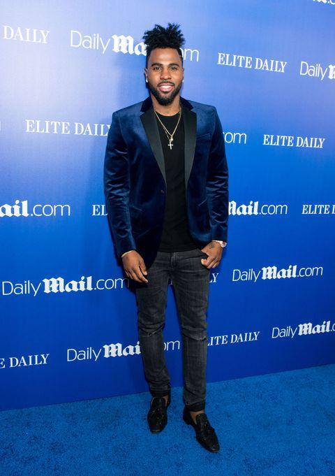 Sleeve, Denim, Jeans, Collar, Jacket, Dress shirt, Blazer, Electric blue, Cobalt blue, Pocket,