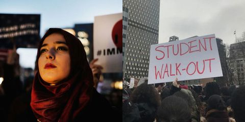 People, Protest, Stole, Street fashion, Handwriting, Wrap, Rebellion, Banner, Fur, Shawl,