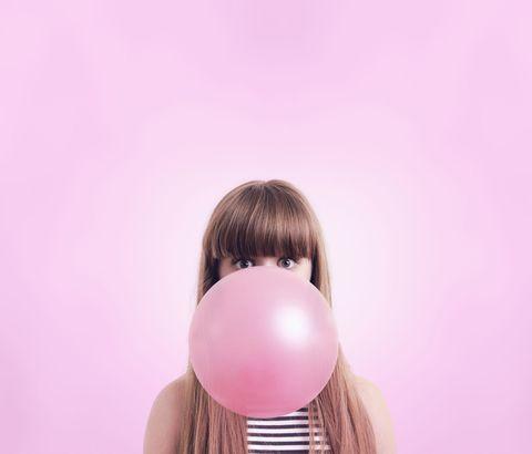 Hairstyle, Skin, Pink, Magenta, Balloon, Purple, Violet, Brown hair, Blond, Peach,