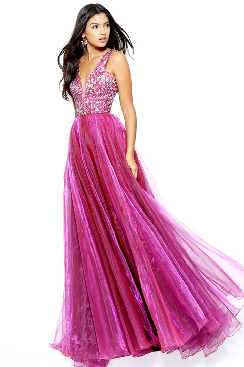 Gown, Clothing, Dress, Fashion model, Formal wear, Shoulder, Pink, Purple, A-line, Magenta,