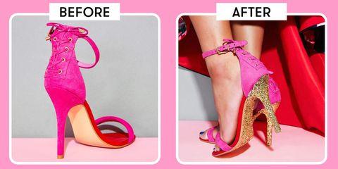 Footwear, High heels, Pink, Leg, Shoe, Foot, Purple, Toe, Sandal, Magenta,