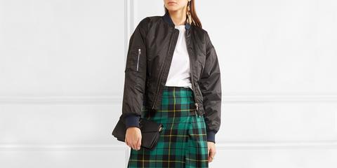 Plaid, Clothing, Tartan, Pattern, Leather, Jacket, Leather jacket, Textile, Outerwear, Kilt,