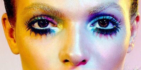 Face, Eyebrow, Eye, Eyelash, Close-up, Eye shadow, Iris, Head, Organ, Beauty,