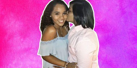 Pink, Friendship, Interaction, Love, Smile, Photography, Fun, Black hair, Event, Long hair,