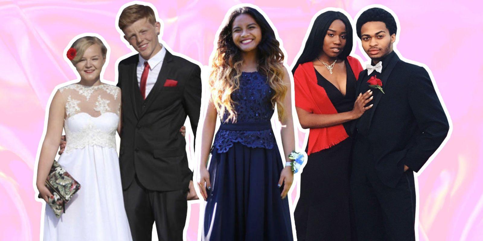 Teen Wearing Low-Cut Prom Dress
