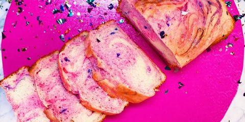 Food, Purple, Colorfulness, Pink, Magenta, Baked goods, Sweetness, Cuisine, Finger food, Dessert,