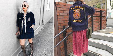 Clothing, Street fashion, Fashion, Outerwear, Uniform, Footwear, Jacket, Sleeve, Design, Fur,