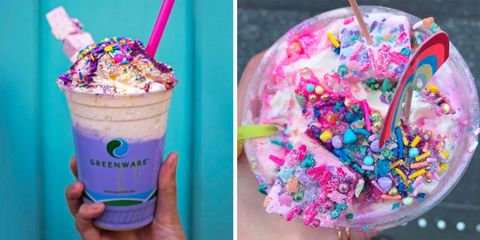 Food, Milkshake, Frozen dessert, Sprinkles, Ice cream, Dessert, Floats, Cream, Cuisine, Dairy,