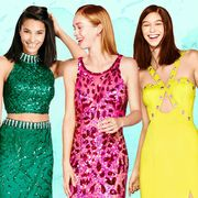 Clothing, Smile, Dress, Green, Waist, Happy, Formal wear, One-piece garment, Facial expression, Style,