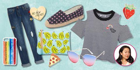 Product, Clothing, Footwear, T-shirt, Fashion, Shoe, Baby & toddler clothing, Pattern, Font, Design,