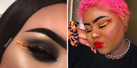 Face, Eyebrow, Lip, Eyelash, Skin, Makeup artist, Eye, Nose, Eye shadow, Beauty,
